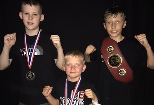 Isaan Gym fighters Tommy Lowe, Connor Shaw and Adam Parry