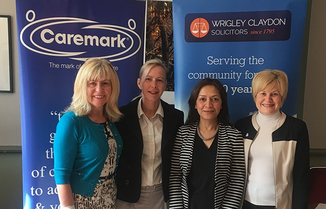 Stephanie and Helan from Caremark with representatives from Wrigley Claydon