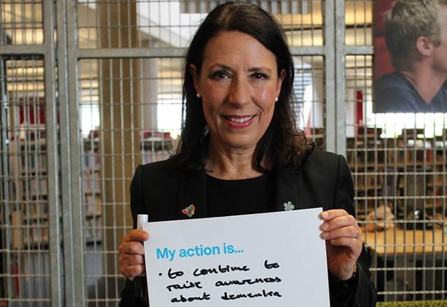 Oldham East and Saddleworth MP Debbie Abrahams shows her support