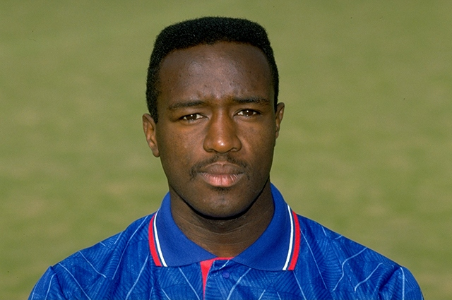 Former Athletic and England star Earl Barrett, pictured during his days at Boundary Park