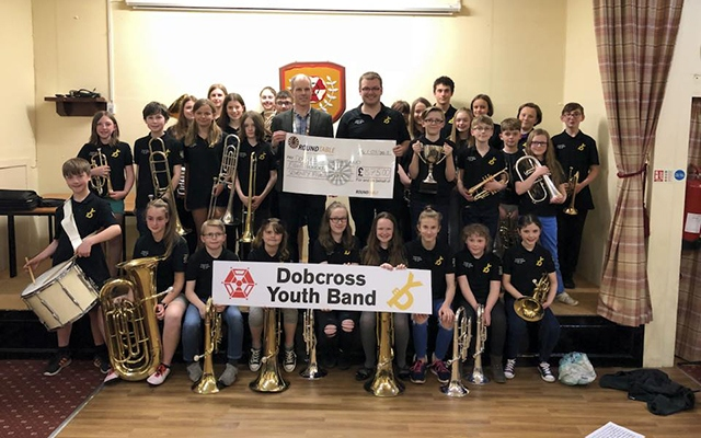 The Dobcross Youth Band look and sound great