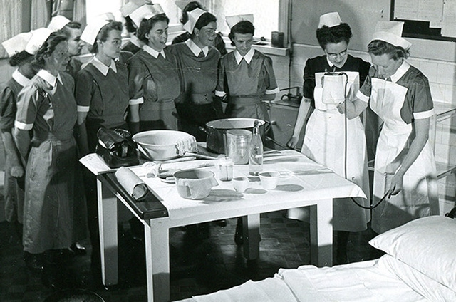 HAPPY DAYS: An early NHS image
