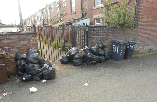 A County Street resident was prosecuted for leaving this mess