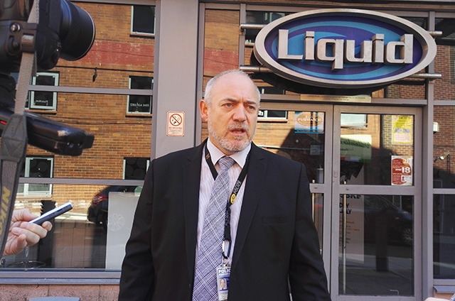 Detective Inspector Ian Harratt outside Liquid Envy nightclub
