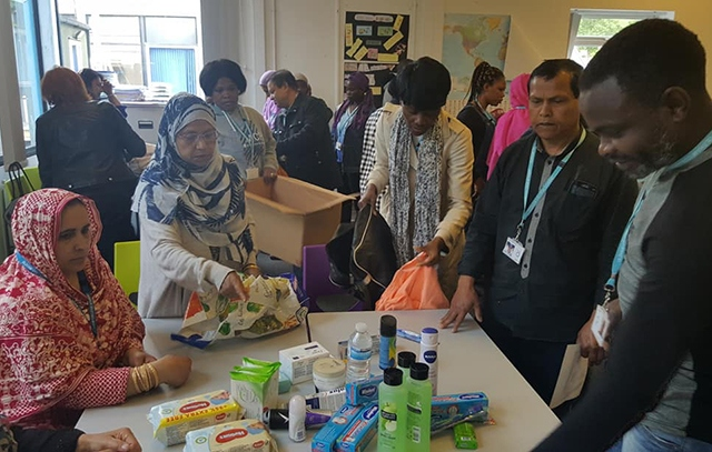 Students at Oldham College got stuck in to help the charity Care 4 Calais