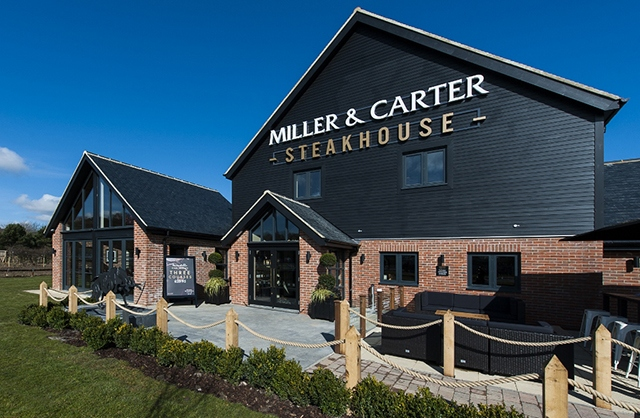 Steakhouse chain Miller & Carter's new fit-out at Gosforth Park