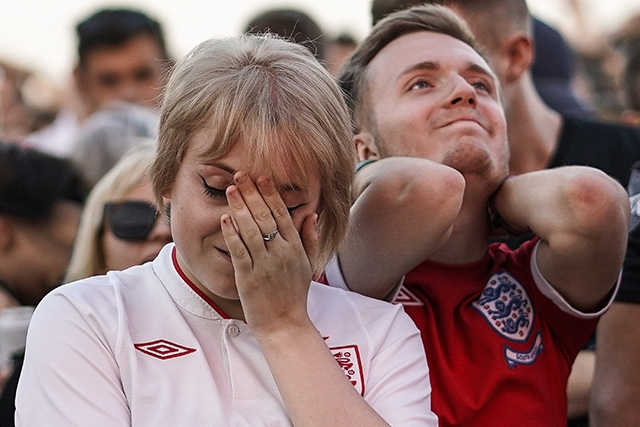 England players share pain with fans online after World Cup defeat