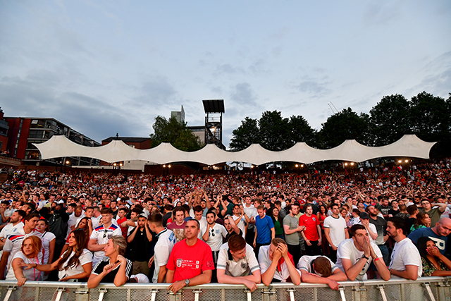 Fans packed into Manchester's Castlefield Bowl Arena for last night's game