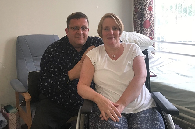 Debra Goodman and her husband Dale are pictured at the Dove's Nest care home
