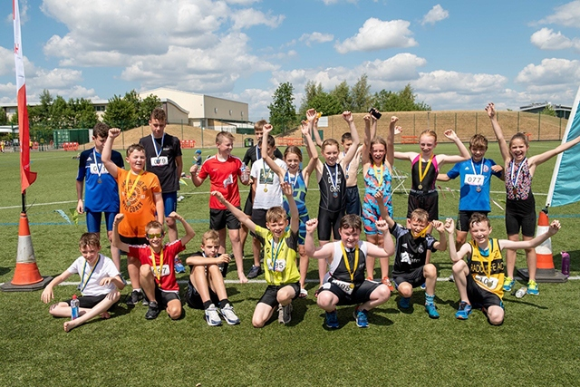 Everyone was a winner at the Oldham Junior Triathlon