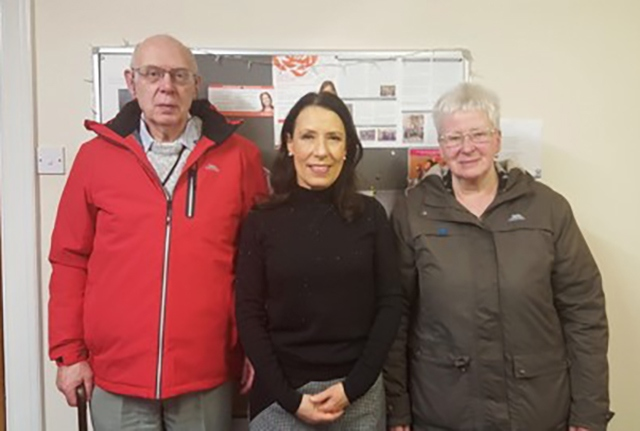 MP Debbie Abrahams with Barrie Wild and his wife Val