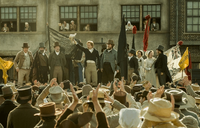 A still from the forthcoming film about Peterloo
