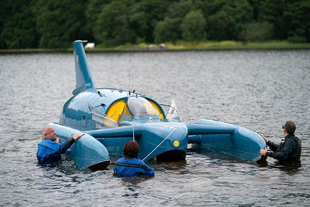 Tests on the rebuilt Bluebird have taken place this week