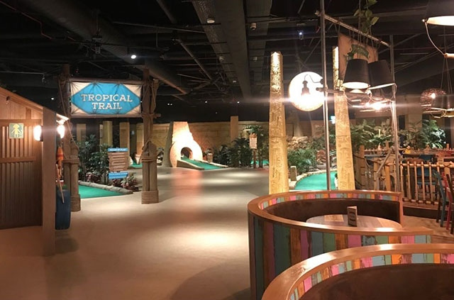 The Treetop Adventure Golf venue at The Printworks in Manchester