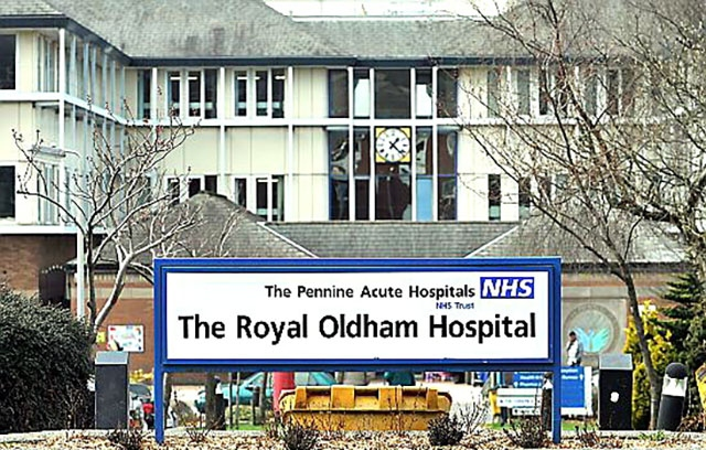 Operations have been cancelled at the Royal Oldham hospital
