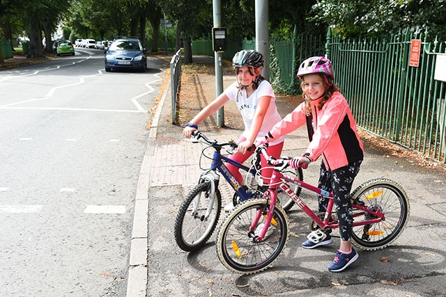 Eliza (left) and Florence are definitely Bike Smart.