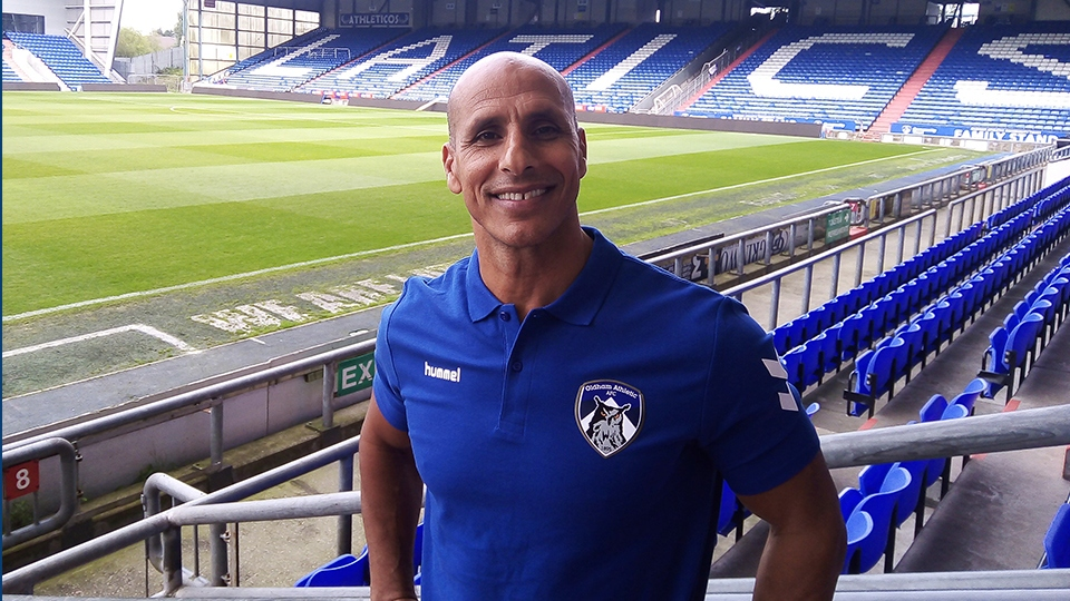 Oldham Athletic manager Dino Maamria