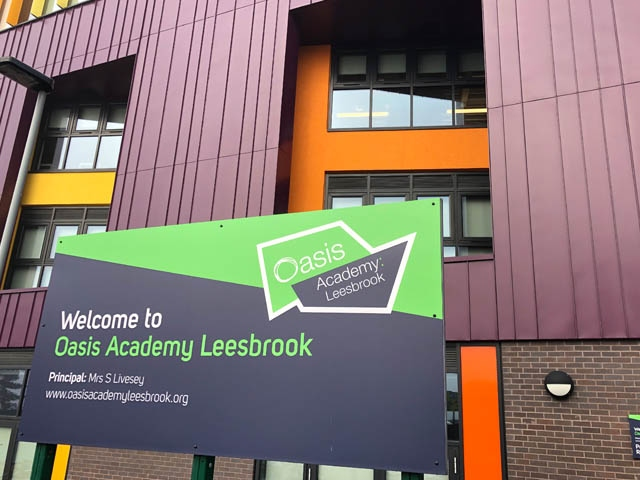 The new Oasis Academy at Leesbrook