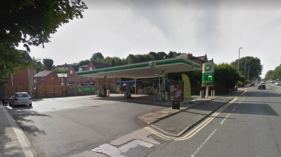 The Alkrington service station in Middleton.