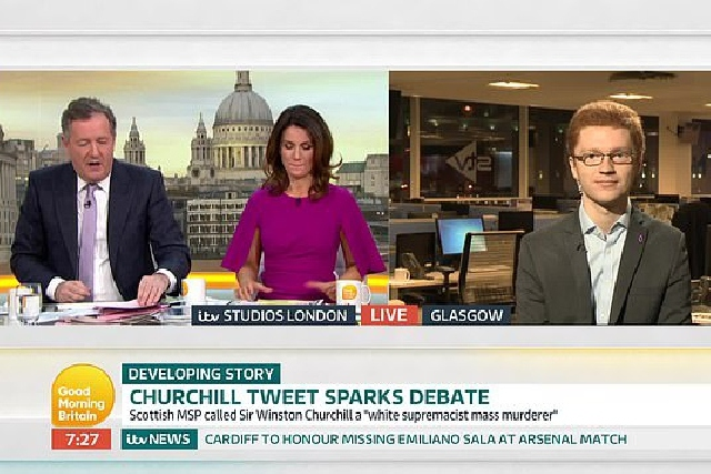 Piers Morgan and Ross Greer in live TV spat over Winston Churchill