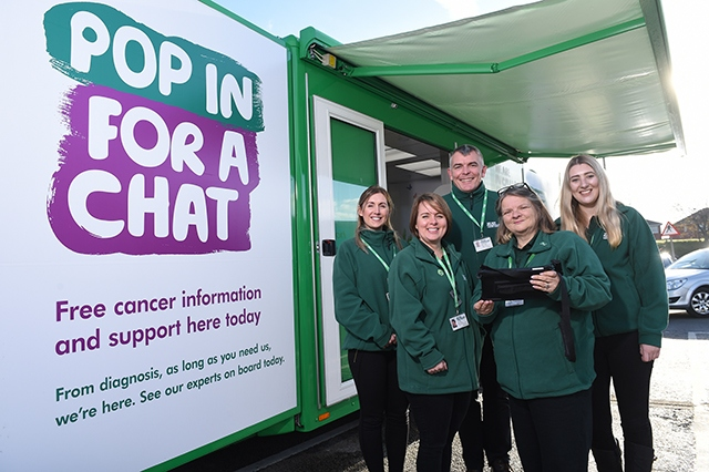 Macmillan Cancer Support's mobile service will come to Oldham next month