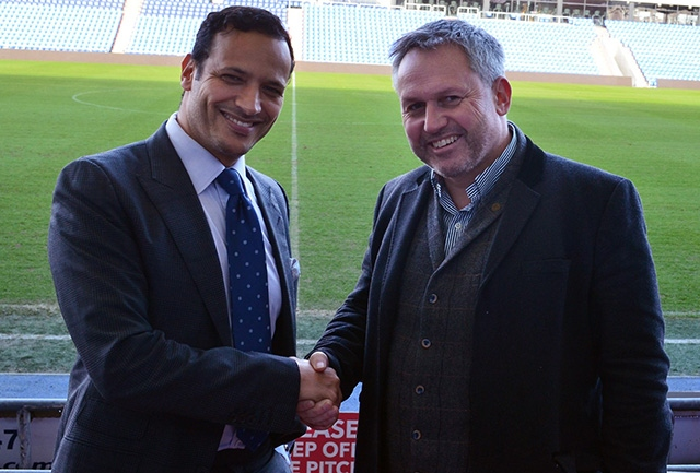 Credible Media owner Matt Ramsbottom pictured with Athletic owner Abdallah Lemsagam