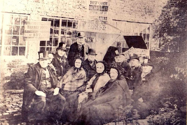 Peterloo Veterans who assembled at Failsworth in 1884 © Gallery Oldham