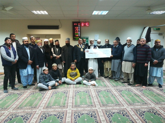 The Bilal Jamia Mosque, Clarksfield, handed the money over on Tuesday