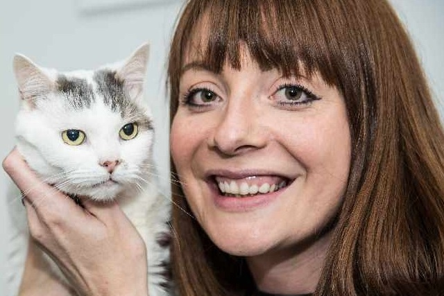 Last year's National Cat of the Year, Theo, with his owner Charlotte Dixon