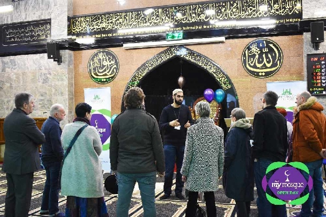 Visitors to Greengate Jamia Masjid
