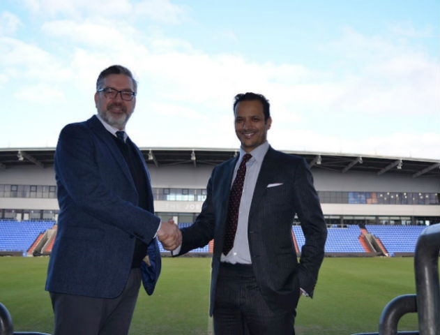 Oldham Chairman with Oldham college boss