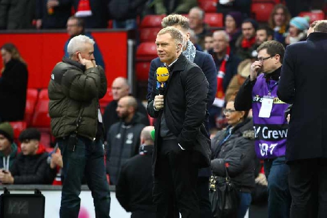 Paul Scholes during his work for BT Sport