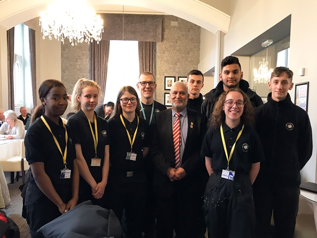 Hopwood Hall students meet Rochdale Mayor