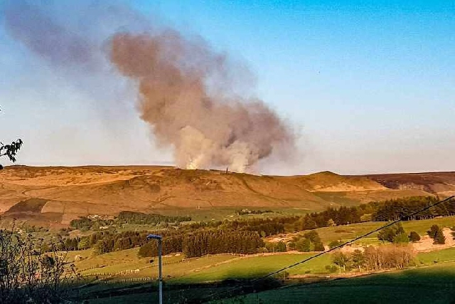 Plumes of smoke seen yet again over the moors