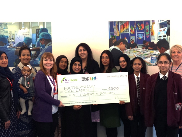 Chai Ladies Group with Cheque