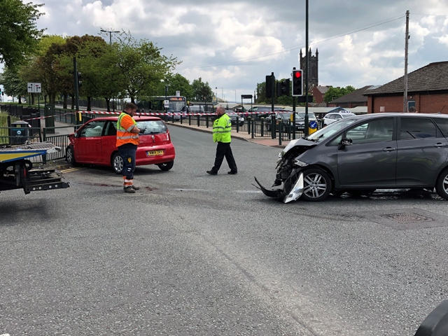 Collision on St Mary's Way in Oldham