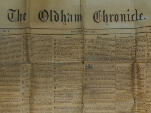 The Oldham Chronicle, edition one