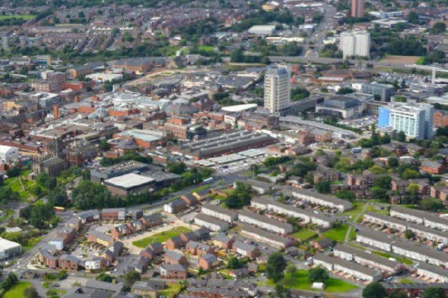 General view of Oldham