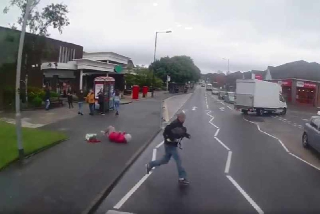 Elderly woman knocked to the ground during Oldham incident