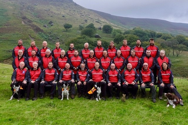 Members of Oldham Mountain Rescue team