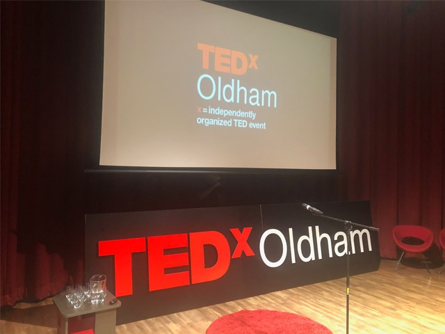 The TEDx talk at Oldham Library