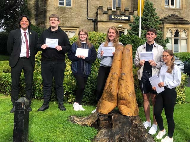 Crompton House Sixth Form students are pleased with their results
