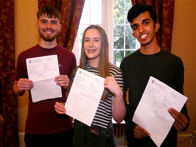 High achievers; Will Maloney, Hannah Murray and Rehman Amjad.