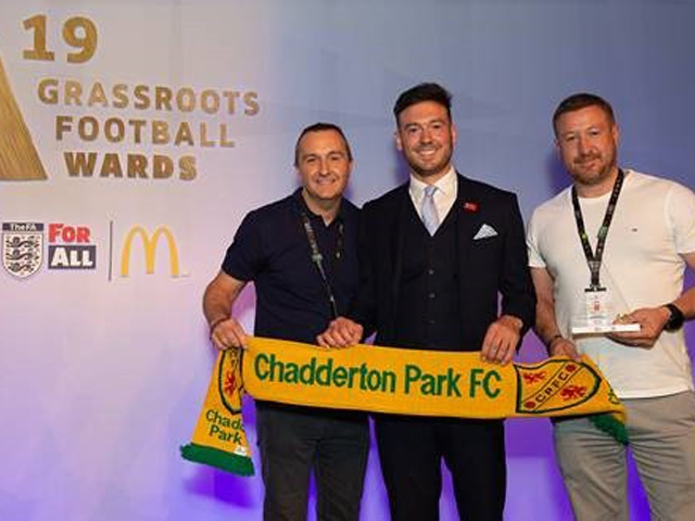 Chadderton Park Sports Club accepted the award at Wembley Stadium this weekend