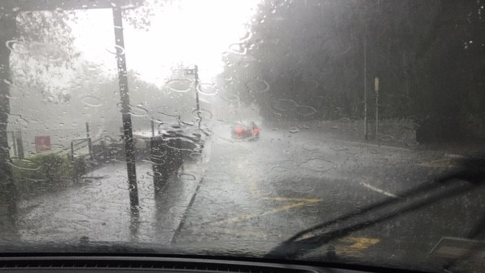 Heavy rain causes problems across the area