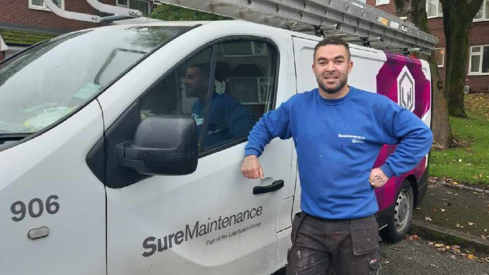 Aaron Da Silva, apprentice gas engineer with Sure Maintenance, is among the apprentices who have kick started their careers in construction and engineering in 2019/20, thanks to FCHO partners