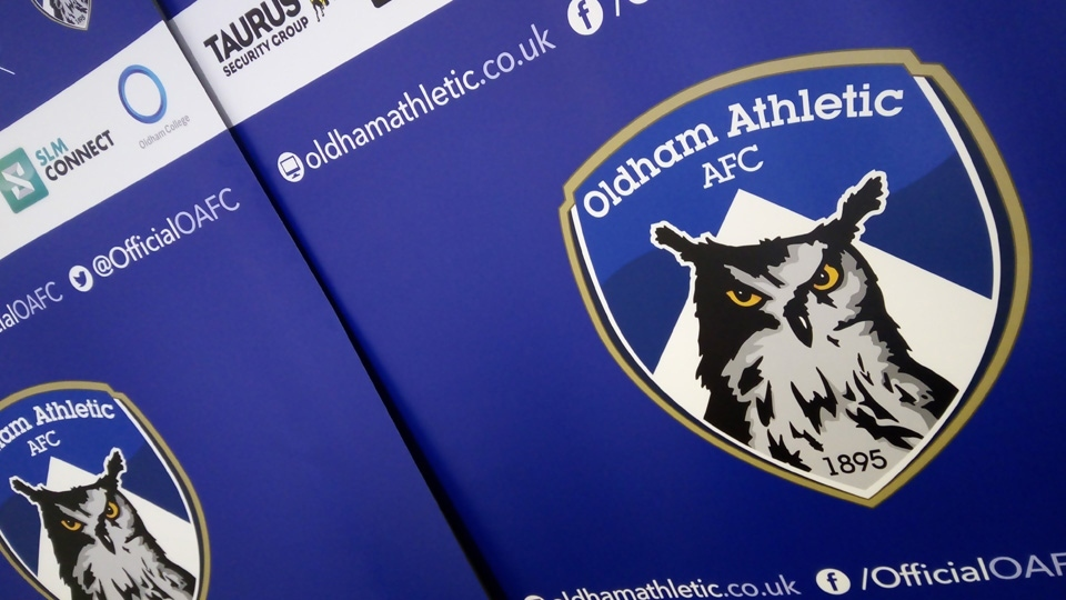 Oldham Athletic were at Boundary Park last night