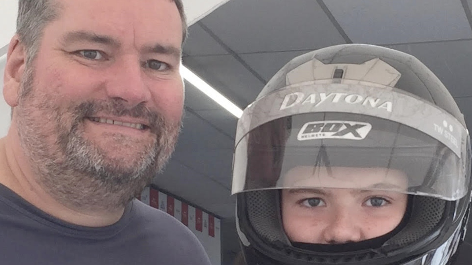 Owen and his father Neil used to be a regular at the go-karting track in Trafford Park.