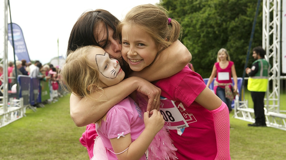 The Race for Life is open to all and this year a family discount is available with one child going free when a family of four enter
