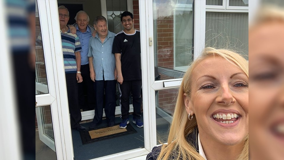 Managers and staff from two teams have been visiting homes to help do a little shopping and deliver Personal Protective Equipment (PPE) and medication
